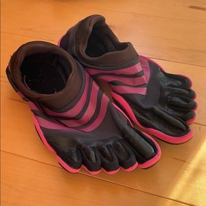Adidas toe shoes!